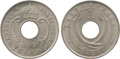 1921 George V cupro-nickel cent