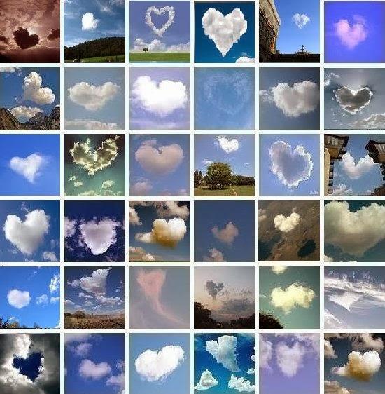 nuvole a forma di cuore
