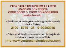 ¡COLABORA CON LA WEB «CANCIÓN CON TODOS»