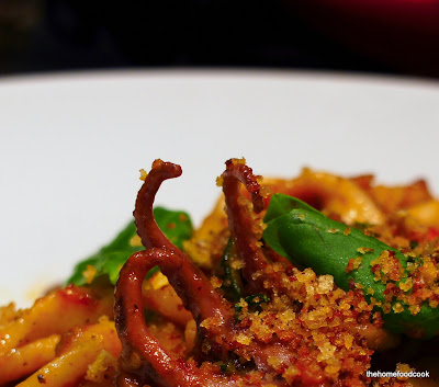 thehomefoodcook - pasta - red wine braised bone marrow & octopus fusilli