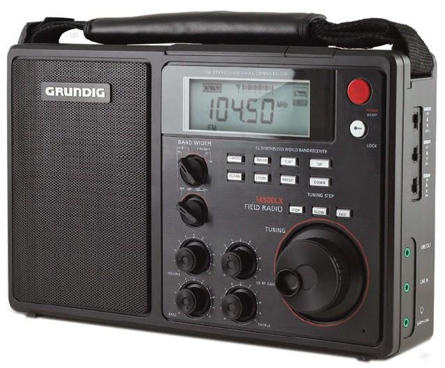Всеволновый радиоприёмник Grundig Field Radio S450 DLX с хорошей чувствительностью,  мощным звуком и PLL-синтезатором