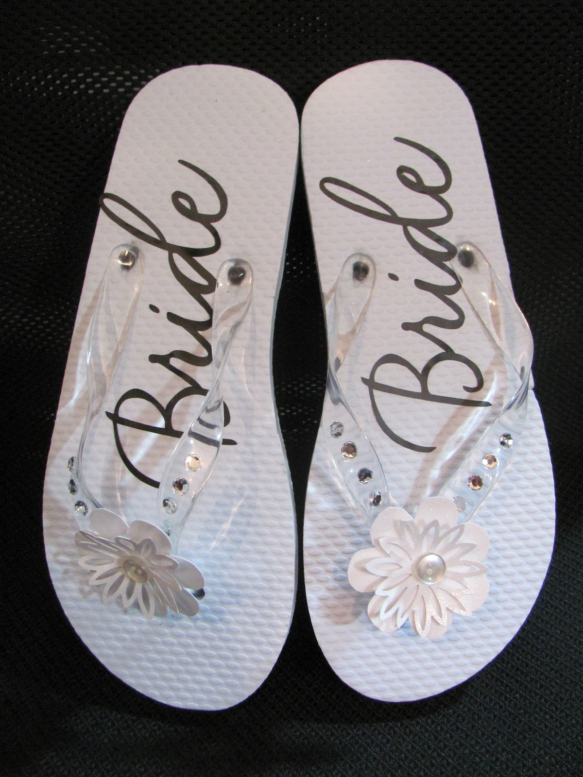 Yogimemories wedding flip flops