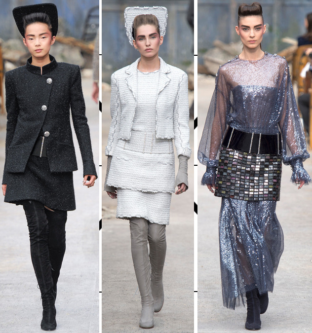 chanel fall 2013 couture collection tweed suits