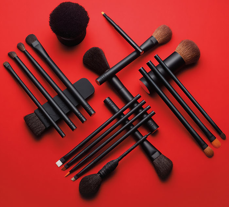 NARS Cosmetics black makeup brushes