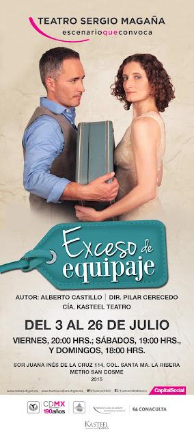 """Julio de """"Exceso de equipaje"""" en el Teatro Sergio Magaña"""