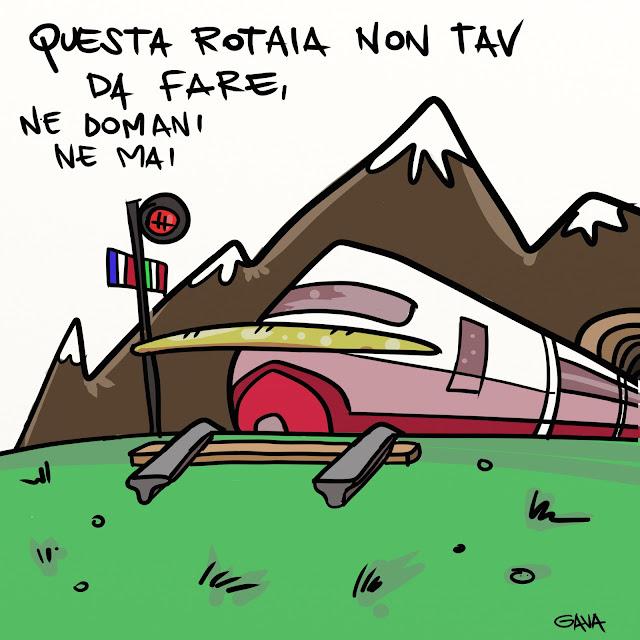 gavavenezia gava satira vignette illustrazone ridere caricatura marco gavagnin tav rotaia lione torino noglobal grillo