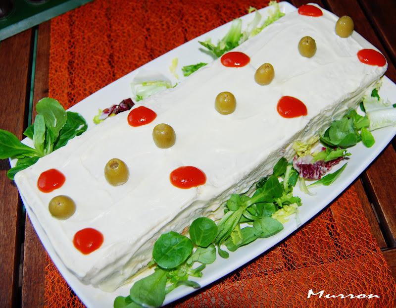 Murron cocina pastel de verano con pan de molde for Cena fria para amigos