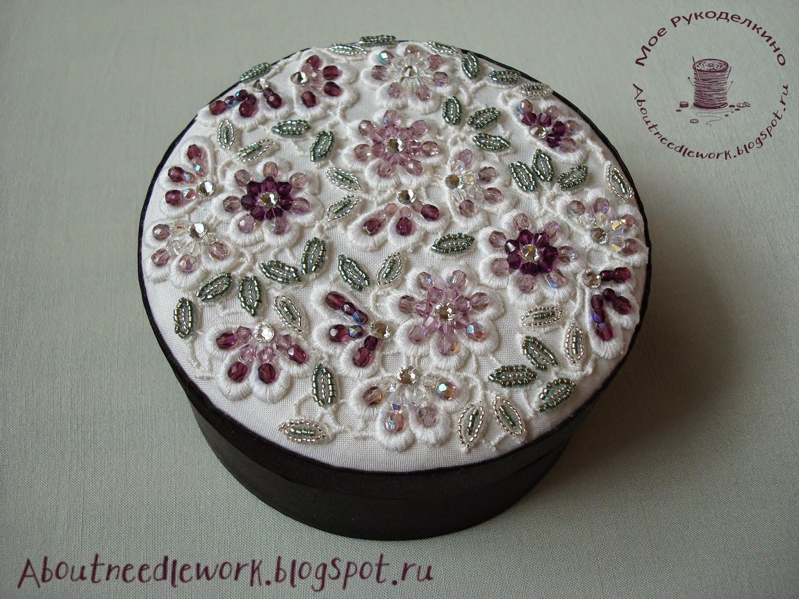 Мастер-класс: шкатулка вышивка бисером