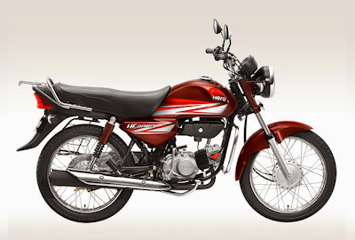 New 2015 Hero HF Dawn Motorcycle in Red Color