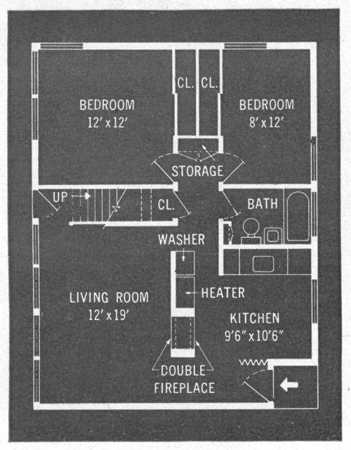 Original Levittown Ranch Floor Plan