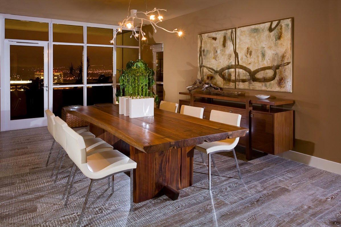 Ruang Makan Gaya Rustik 6