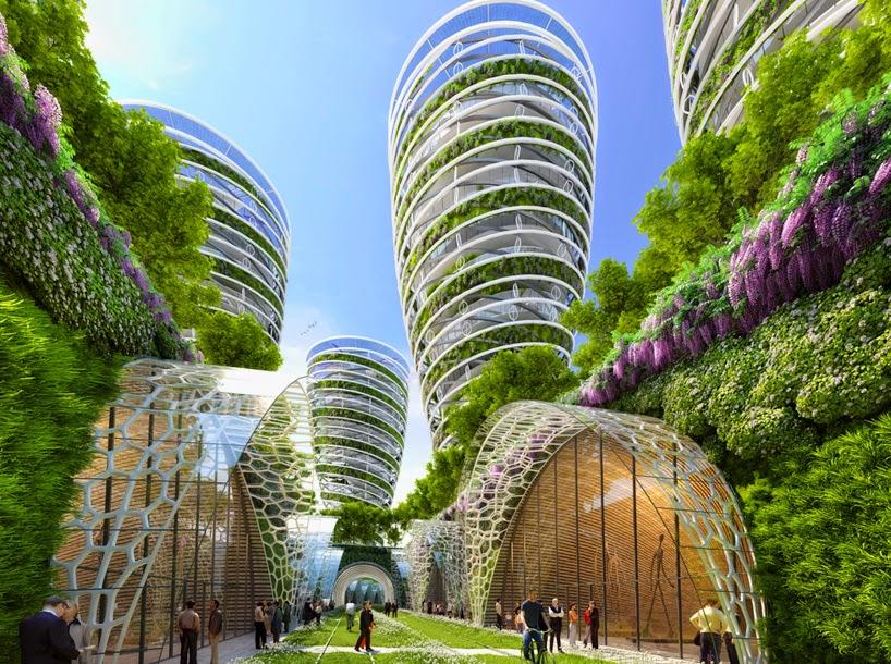 Proyecto Futurista en Paris, Ciudades Inteligentes, Edificios Verdes, Torres ANTISMOG
