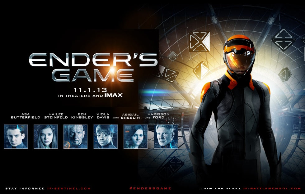 Capa do Ender's Game O Jogo do Exterminador Legendado Torrent AVI + Assistir Onlinefilmes