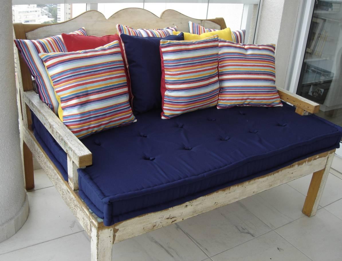 de Piscina.: Fabricamos Almofadas para sofá de madeira de área #803D39 1194x911