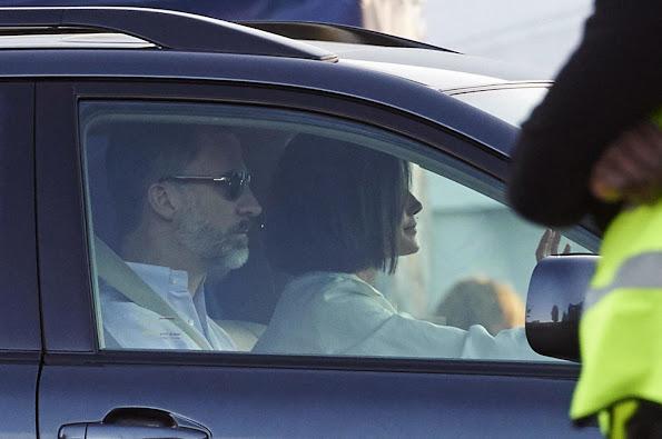 King Felipe of Spain, Queen Letizia of Spain and Princess Leonor of Spain, Princess Sofia of Spain and Queen Sofía
