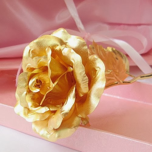 24K 6-Inch Gold Foil Rose - Best Valentine's Day Gifts - Handcrafted & Last Forever!