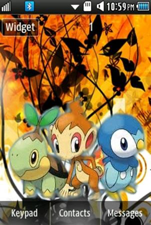 Anime Pokemon Samsung Corby 2 Theme Wallpaper