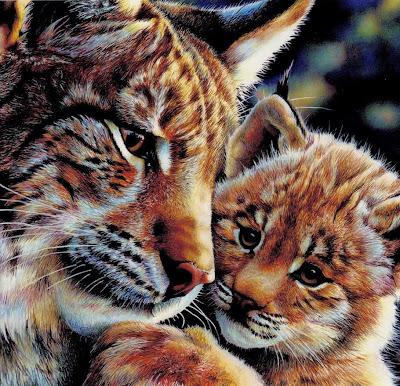 Realistic animal painting