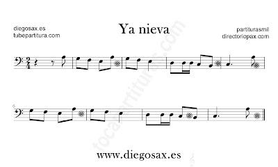 Ya Nieva partitura de Trombón, Tuba, Violonchelo, Fagot, Bombardino en Clave de Fa