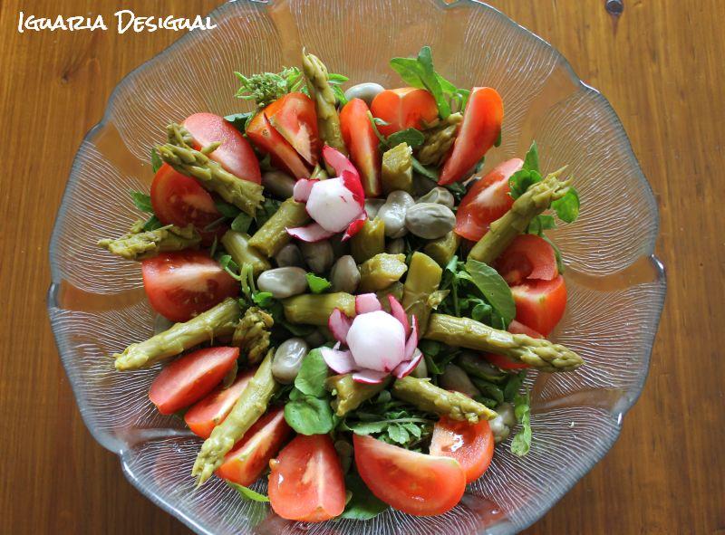 Salada+de+Espargos+com+Favas
