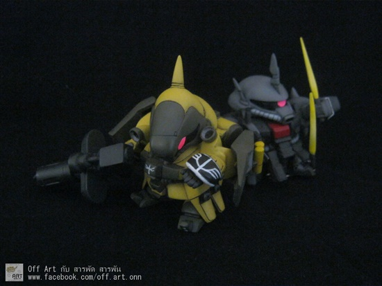 SD Jagd-Doga UC. Ver. ยักโดก้าตัวเหลืองๆ ตัวน้อยๆ โดย Off-Songwut