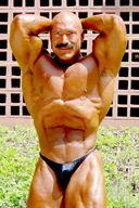 Sexy Moustached Master Bodybuilder