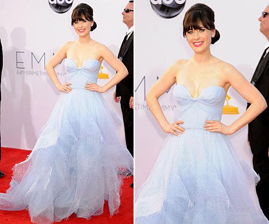 Zooey Deschanel Emmy 2012 Reem Acra