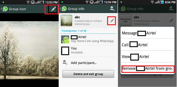 Whatsapp Group Change Icon