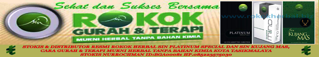Rokok herbal SIN Platinum Special, SIN Kujang Mas, SIN Mind dan Sin Provost 19