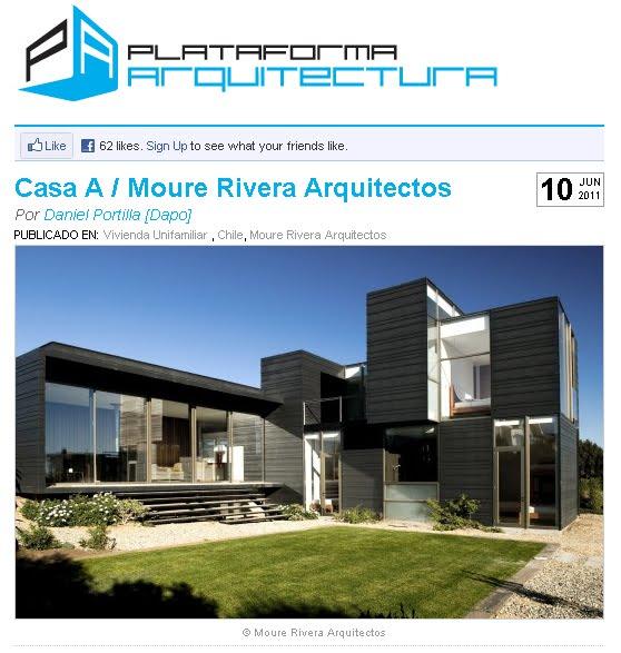 Moure rivera arquitectos publicacion casa a plataforma de for Plataforma arquitectura