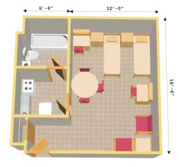 Small Efficiency Apartment Plans