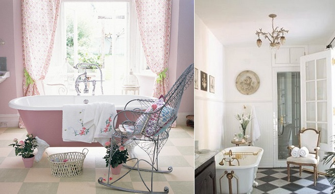Toques rom nticos para o banheiro decora o e ideias - Casas estilo romantico ...