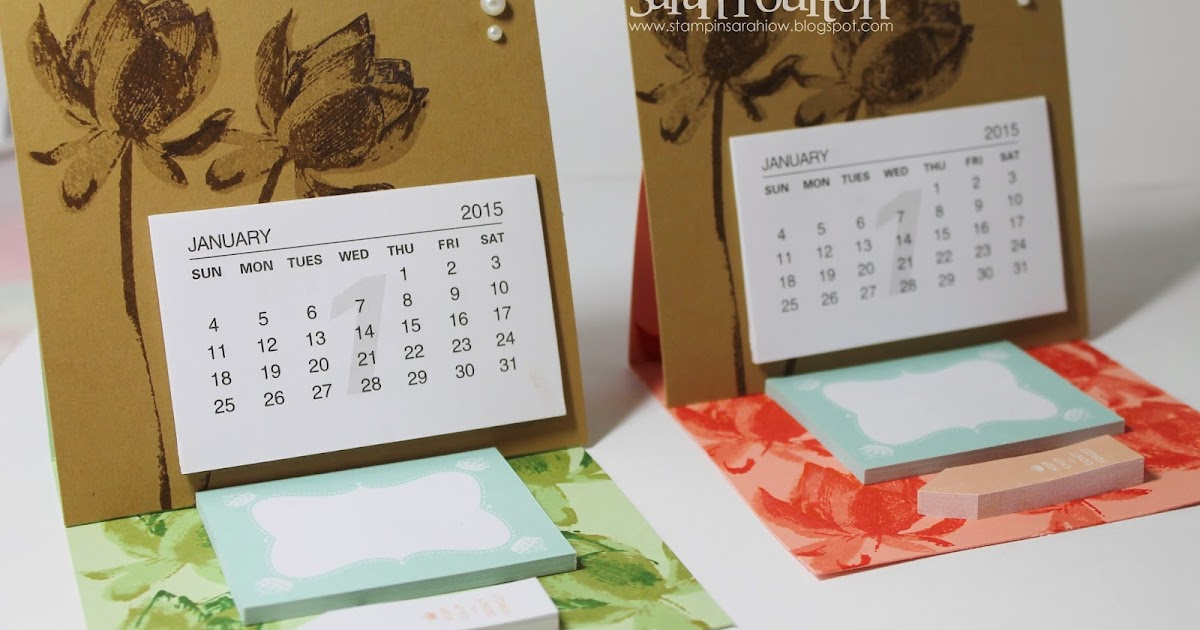 Stampin Up Calendar Ideas : Stampin sarah happy new year saleabration sneak