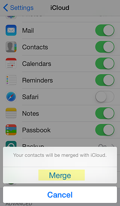 How to backup iphone contacts via icloud jailbreak
