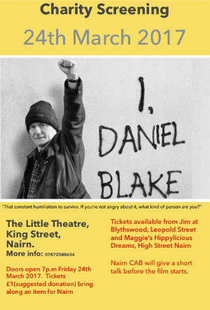 """I, Daniel Blake"" Litte Theatre 7pm Friday 24th March"
