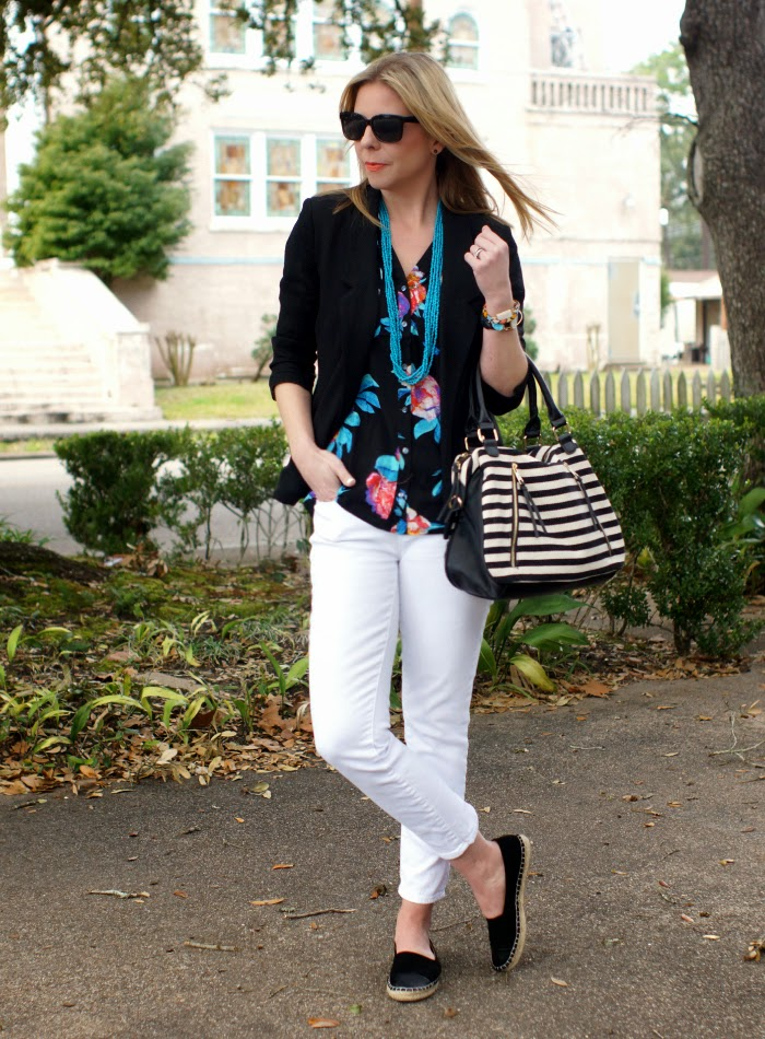 how to mix stripes and floral