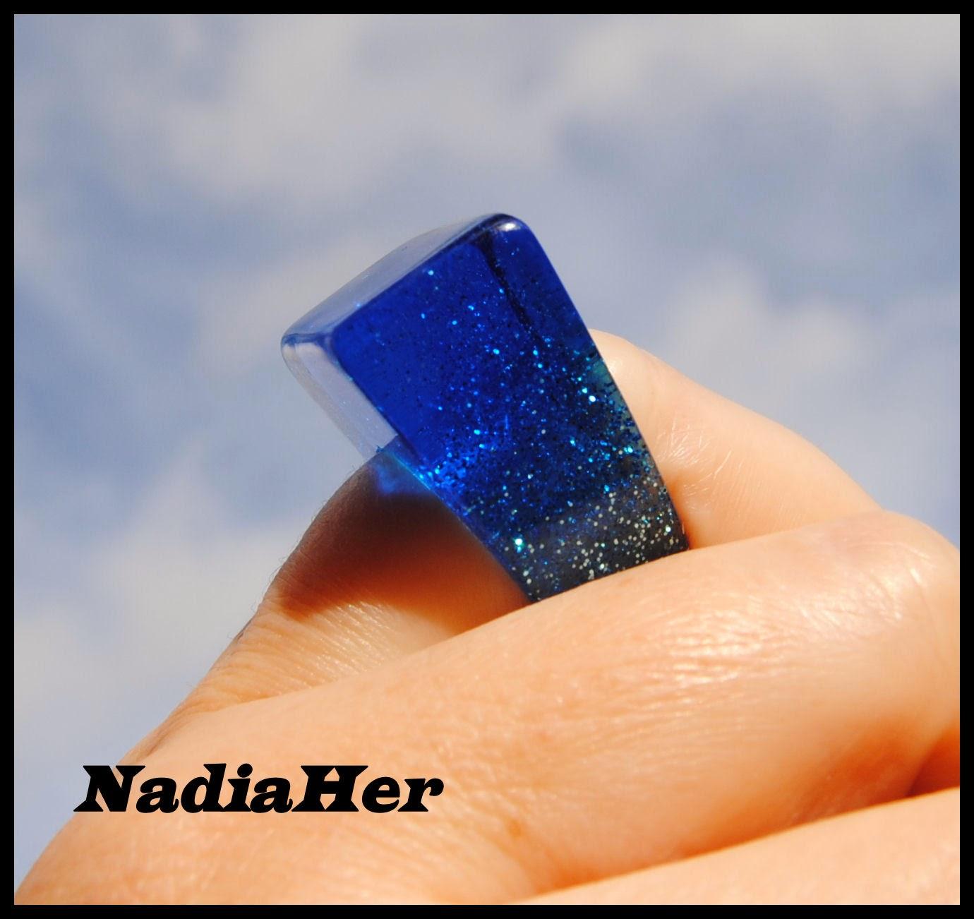 Les bijoux de nadia bague paillet en r sine epoxy - Resine epoxy cristal ...