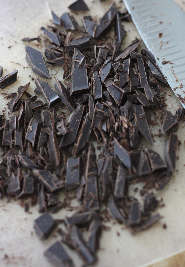 Chopped Dark Chocolate for homemade Chocolate Sauce Recipe