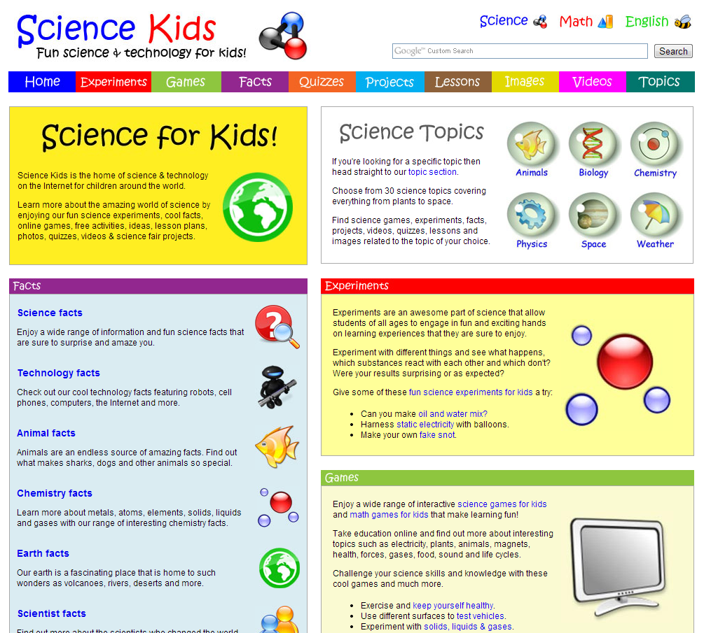 fun kid web site: