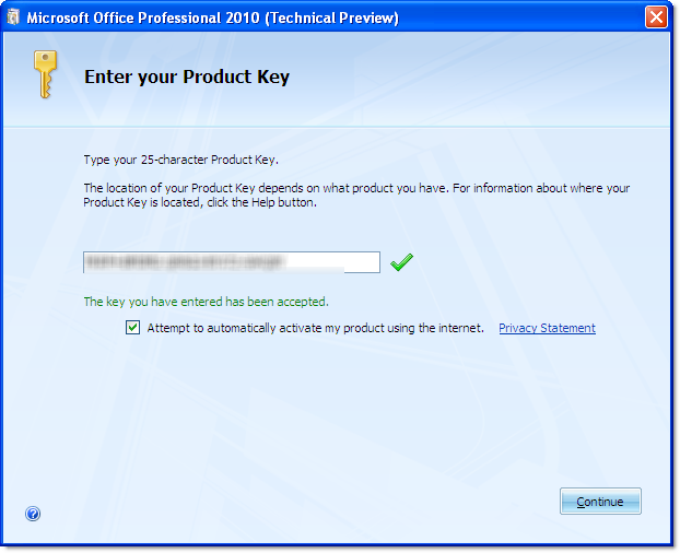 how to  office 2010 product key