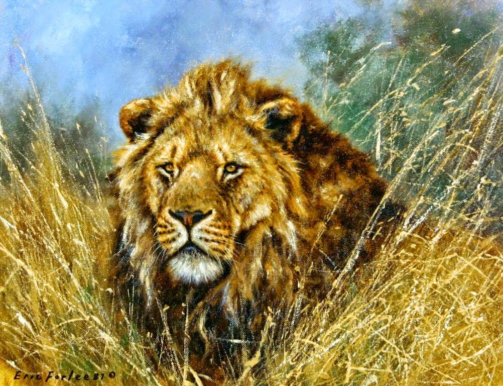 pinturas-realistas-de-leones