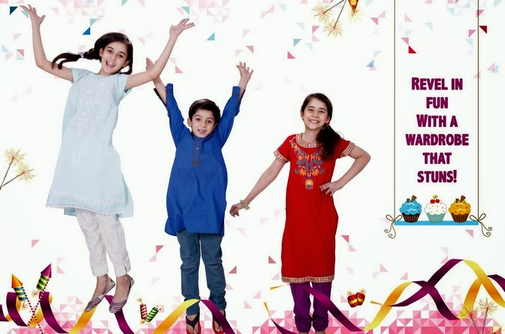 Kids Eid Collection 2014 by Nishatlinen and Home Fashion Nisha