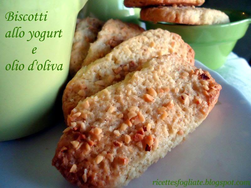 biscotti allo yogurt e olio d'oliva