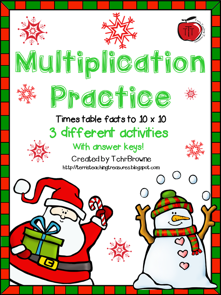 http://www.teacherspayteachers.com/Product/Free-Christmas-Multiplication-Practice-1547425