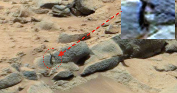 Ancient Aliens On Mars, Carved Humanoid And Bear Found, Nov 2014, UFO Sighting News.