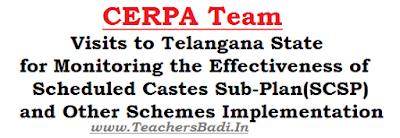 CERPA Team, Visits, Telangana State