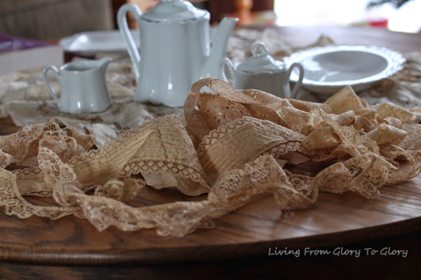 How To Tea Stain Lace