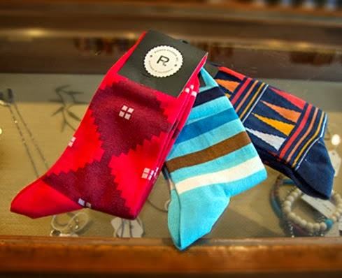 Richer Poorer colorful men's socks at VIVIDBRAILLE.
