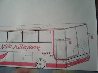 Ônibus de turismo - frente (desenho)