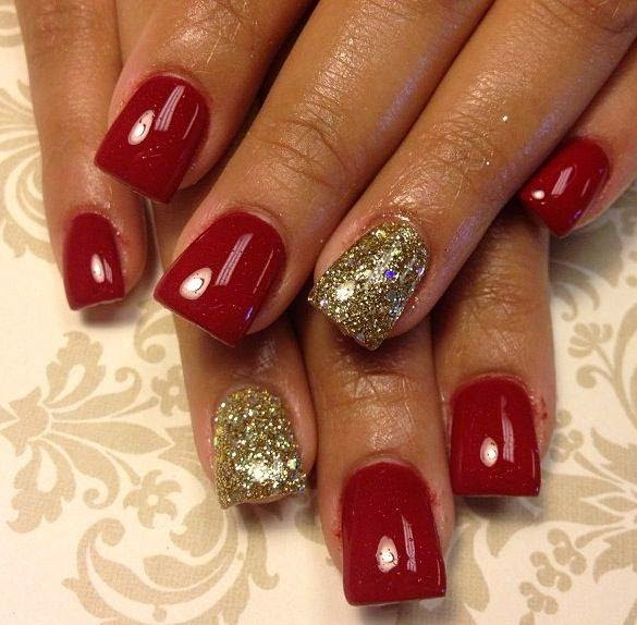 gorgeous and Awesome Red and Gold Nail Designs. hope you like them - Nail Designs Red And Gold ~ Beautify Themselves With Sweet Nails